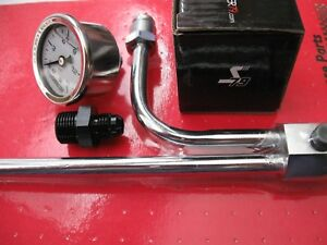 Holley Fuel Line 4 4150 9 5 16 Center To Center 6an Fitting Gauge Combo