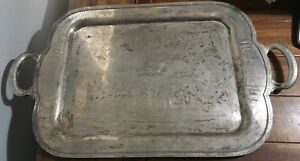 Vintage Community Plate Chelsea Oneida Silver Plate Waiter Butler Tray 23 X 16