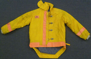 42x24 Firefighter Jacket Coat Bunker Turn Out Gear Yellow Morning Pride J608