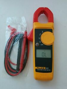 Fluke 323 True Rms Ac Current Amp Clamp Meter Multimeter Test Lead Probes