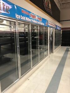Walk In Cooler Beer Cave Glass Doors Evaporators Gravity Racks Shelving