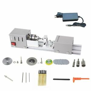 Diy Wood Mini Lathe Machine Polisher Table Sander Gringder Saw Cut Fast Shipping