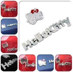 Cute Hello Kitty 3d Metal Car Sticker Emblem Decal Accessories Decoration Badge
