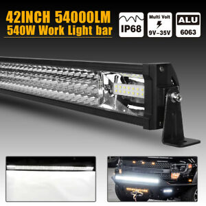 42 Inch 540w 3 row Led Work Light Bar Spot Flood Combo Offroad Driving 4wd Suv