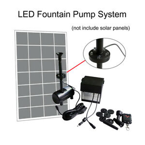 50w Solar Submersible Fountain Water Pump Pond Outdoor Led Light
