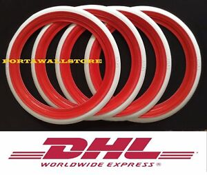 Atlas 17 Red White Wall Portawall Tyre Insert Trim Set Free Ship Dhl