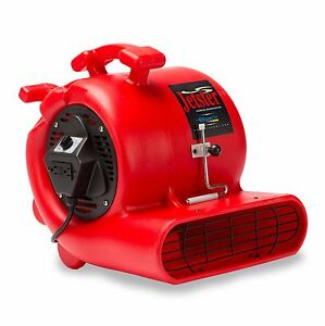 Bluedri Jetster 0 33 Hp Air Mover Carpet Dryer Blower Floor Fan With Clamp Red