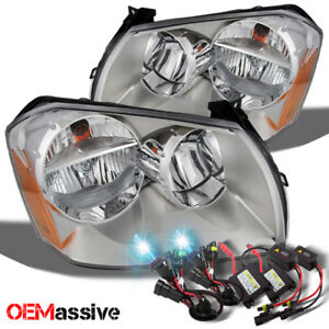 Fit 05 07 Dodge Magnum Replacement Headlights 8000k Blue White Hid