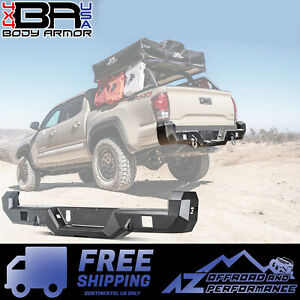 Body Armor 4x4 Pro Series Rear Bumper For 2016 2019 Toyota Tacoma Tc 2963