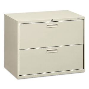 Hon 500 Series Two drawer Lateral File 36w X 19 1 4d X 28 3 8h Light Gray 582lq