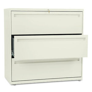Hon 700 Series Three drawer Lateral File 42w X 19 1 4d Putty 793ll