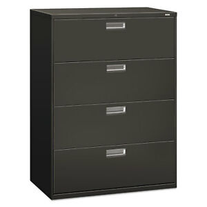Hon 600 Series Four drawer Lateral File 42w X 19 1 4d Charcoal 694ls