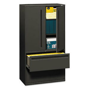 Hon 700 Series Lateral File W storage Cabinet 36w X 19 1 4d Charcoal 785lss