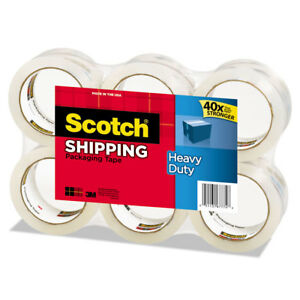 Scotch 3850 Heavy duty Tape Refills 1 88 X 54 6yds 3 Core Clear 6 pack