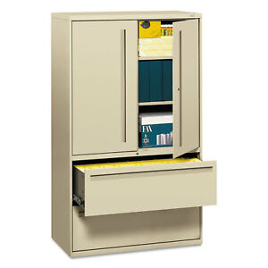 Hon 700 Series Lateral File W storage Cabinet 42w X 19 1 4d Putty 795lsl