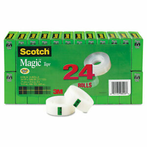 Scotch Magic Tape Value Pack 3 4 X 1000 1 Core Clear 24 pack