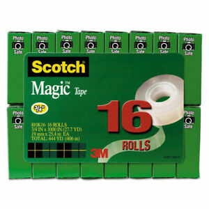 Scotch Magic Tape Value Pack 3 4 X 1000 1 Core Clear 16 pack