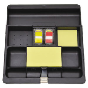 Post it Recycled Plastic Desk Drawer Organizer Tray Plastic Black C71