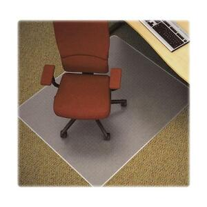 Lorell Antistatic Chairmat Rectangular Low Pile 46 x60 Clear 25753