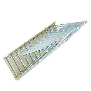 Safco Sheet File Pivot Wall Rack 12 Hanging Clamps 24w X 14 3 4d X 9 3 4h Sand
