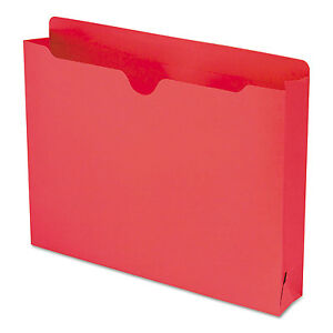 Smead Colored File Jackets With Reinforced Double ply Tab Letter Red 50 box