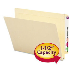 Smead 1 1 2 Inch Expansion Folders Straight End Tab Letter Manila 50 box 24275