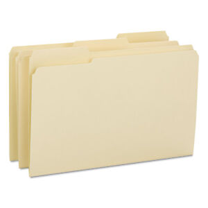 Smead File Folders 1 3 Cut Reinforced Tab Legal Manila 100 box 15434