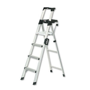 Cosco Signature Series Aluminum Folding Step Ladder W leg Lock Handle 6 Ft