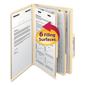Smead Manila Classification Folders With 2 5 Right Tab Legal Six section 10 box