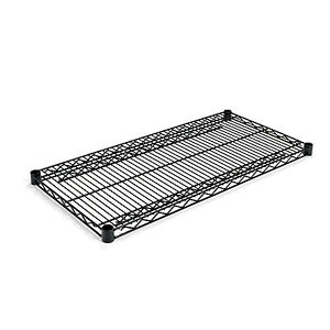 Alera Industrial Wire Shelving Extra Wire Shelves 36w X 18d Black 2 Shelves
