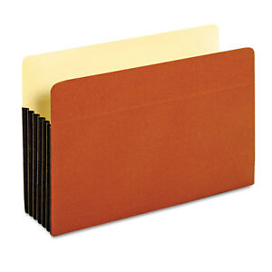 Pendaflex File Pocket With Tyvek Straight Cut 1 Pocket Legal Brown 64274