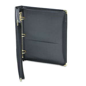 Samsill Classic Collection Zippered Ring Binder 11 X 8 1 2 1 1 2 Cap Black