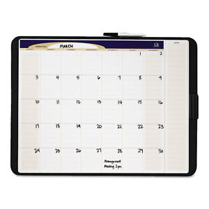 Quartet Tack Write Monthly Calendar Board 23 X 17 White Surface Black Frame