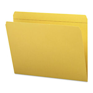 Smead File Folders Straight Cut Reinforced Top Tab Letter Goldenrod 100 box