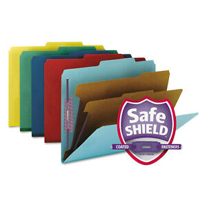 Smead Pressboard Classification Folders Letter Six section Assorted 10 box 14025