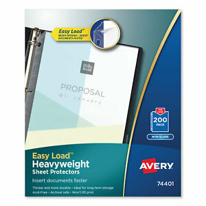 Avery Top load Poly Sheet Protectors Heavyweight Letter Nonglare 200 box 74401