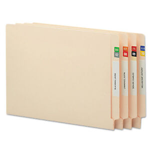 Smead Monthly End Tab File Folder Labels Assorted Colors 250 Per Month 3000 box