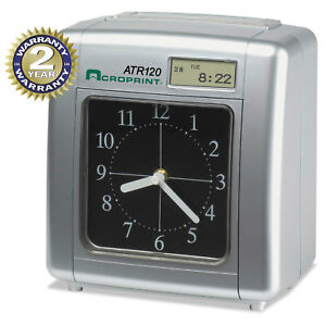 Acroprint Model Atr120 Analog lcd Automatic Time Clock 010212000