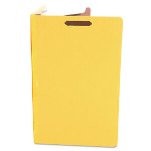 Universal Pressboard Classification Folders Legal Four section Yellow 10 box
