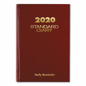 At a glance Standard Diary Recycled Daily Reminder Red 5 3 4 X 8 1 4 2019