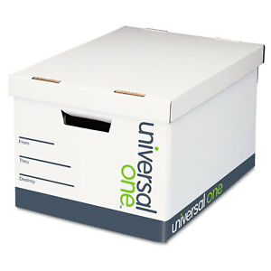 Universal Lift off Lid File Storage Box Letter Fiberboard White 12 carton 95220