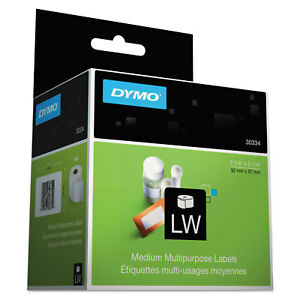 Dymo Labelwriter Address Labels 1 1 4 X 2 1 4 White 1000 Labels roll 30334