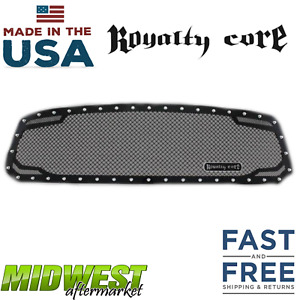 Royalty Core Rc2 Twin Mesh Grille Fits 2013 2018 Dodge Ram 1500