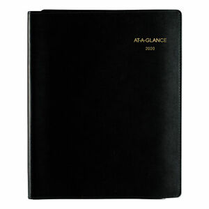 At a glance Plus Weekly Appointment Book 8 1 4 X 10 7 8 Black 2018 2019 70950p05