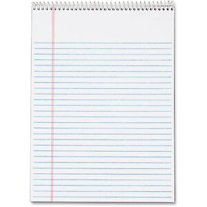 Tops Wirebound Pad Legal Ruled 70 Shts 8 1 2 x11 3 4 3pk White 63633