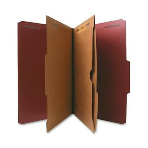Nature Saver Classification Folder Two pocket 2 5 Cut Legal 10 bx Red 95013