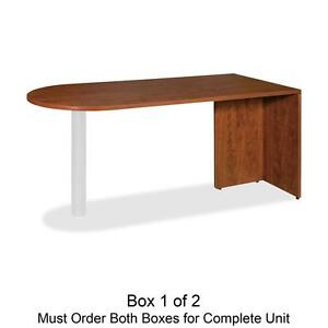 Lorell Peninsula Box 1 2 66 x30 x29 1 2 Cherry 69415