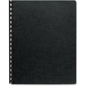 Fellowes Linen Presentation Covers 11 x8 1 2 200 pk Black 5217001