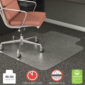 Deflecto Rollamat Frequent Use Chair Mat For Medium Pile Carpet 45 X 53 W lip