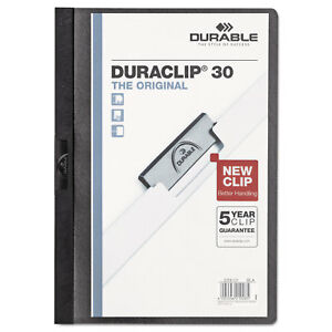 Durable Vinyl Duraclip Report Cover W clip Letter Holds 30 Pages Clear black